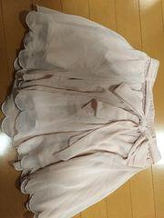 薄ピンク☆ミニスカート☆リボン付き☆キュロット