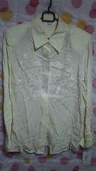 新品 訳あり絹(シルク)100%長袖ブラウス(白)フリーサイズ