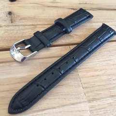 #16mm クロコ型押しフェイクレザーベルト