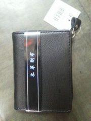 新品本革カード入れ付き小銭入れ財布
