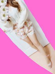 ハニーバンチ♪ピンクバラ柄ペプラムショートパンツ♪