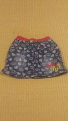 ベビードール♪王冠とハートのデニムスカート♪140センチ☆