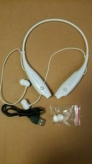 【送料無料】Bluetooth4.0 高性能ワイヤレスイヤフォン ホワイト