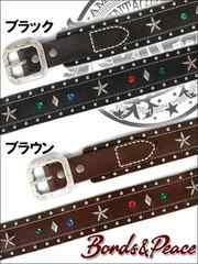 BONDS&PEACE引地私物VINTAGE STAR ベルト/黒F