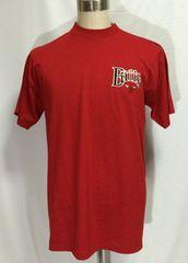 4 シカゴ ブルズ BULLS NBA Tシャツ TEE 半袖 赤 XL 刺繍