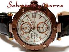 良品 1スタ★サルバトーレマーラ【クロノグラフ】大型 腕時計