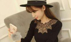 ◆送料無料◆セクシーシースルー◆ニットセーター◆黒102