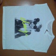メッシュプリントTシャツ