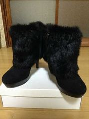 DIANA(ダイアナ)ファーショートブーツ美品