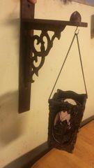 大好きなアンティークの木彫品を二点組み合わせて。