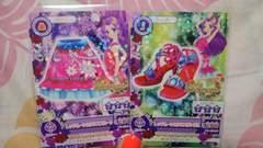 アイカツ☆アイス☆新品☆ラブムーンライズレッドムーンカクタススカート&サンダル2枚セット