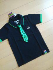 新品ネクタイ付オバケポロシャツ黒120partyparty