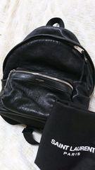 美品 17万円 サンローラン SAINT LAURENT バックパック リュック レザー ブラック