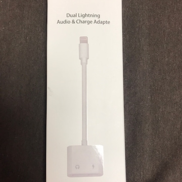 Dual lightning audio&Charge adapte
