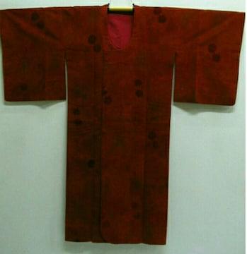 道行コート ビロード 正絹 (着丈129�p、裄65�p) 糸菊 乱菊
