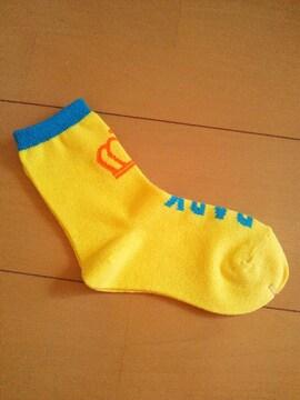 新品靴下/黄16〜18�pベビドBABYDOLLベビードール