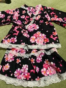 美品 浴衣ドレス 110