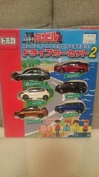開封 中古 トミカ スーパーオートトミカビル ドライブカーセット2 6台入りBOX