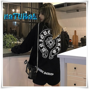 新作★大きいサイズ2L〜4L ロゴプリTシャツ/胸ポケ付*黒