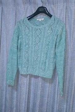 エメラルド色のセーター★春物★Mサイズ〜nissen