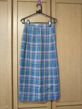 新品チェック柄巻きスカート