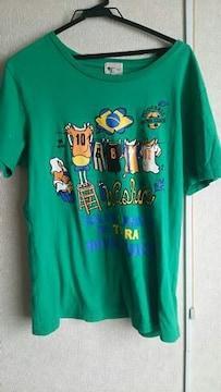 Tk MIXPICE★グリーンカジュアルTシャツ★size L