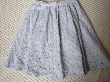 ☆JILLSTURAT 水色レーススカート☆S