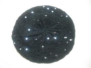 wb274 女 BILLABONG ビラボン ニット帽 ベレー 黒