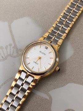 T141極美品★ ELGIN エルジン レディース 腕時計 クォーツ