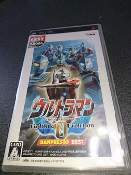 PSP!箱説あり!ウルトラマン!ファイティング エボリューション ゼロ!ソフト