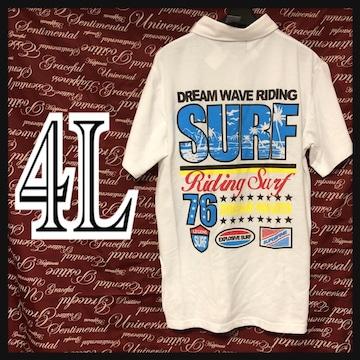 4L・サーフ・SURFロゴポロ新品白/MCP606-004