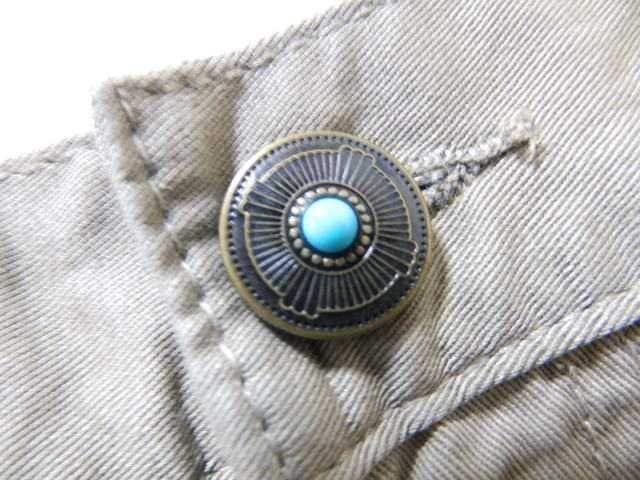 エスニック&ネイティブバックジップ刺繍★ツイル*ハーフパンツベージュw82 < 男性ファッションの