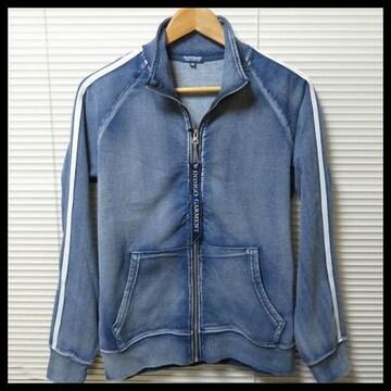 新作インディゴカットデニムトラックジャケット/BLUE/M