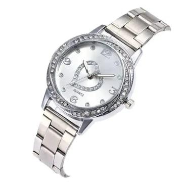 オススメ690円★超人気シンプルデザイン可愛い腕時計シルバー