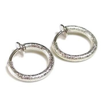 15mmフープイヤリング◆銀◆デザインS