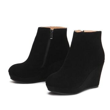 TA5即決 新品 ウェッジソール ブーツ 黒 33 21.5 エスペランサ R&E 好きに
