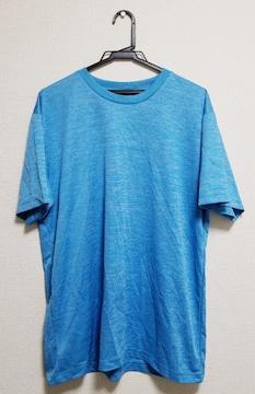 ★送料無料★吸汗・速乾/半袖Tシャツ★ブルー×ホワイトミックス XK★新品★