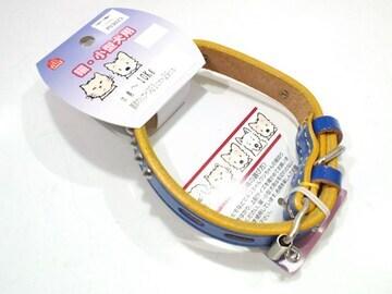 送円07kg10kg犬首輪PU3023青手縫平首輪23~29cm用鋲付牛皮革Dogs
