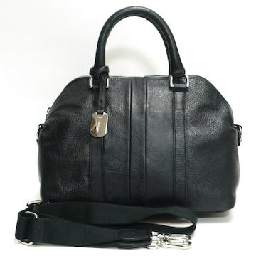 美品FURLA フルラ ハンドバッグ ストラップ付  黒 正規品