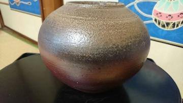 算盤玉型→灰褐色釉備前焼→水差壺 窯印