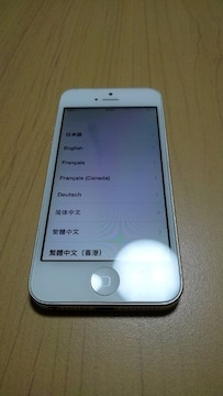 SoftBank iPhone5 GB数不明 ホワイト A1429