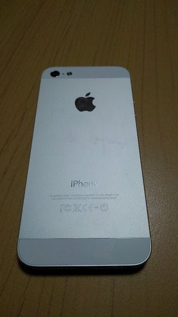 SoftBank iPhone5 GB数不明 ホワイト A1429 < 家電/AVの