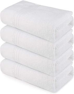 バスタオル 綿100% 4枚(60*120cm.360g) マイクロファイバー