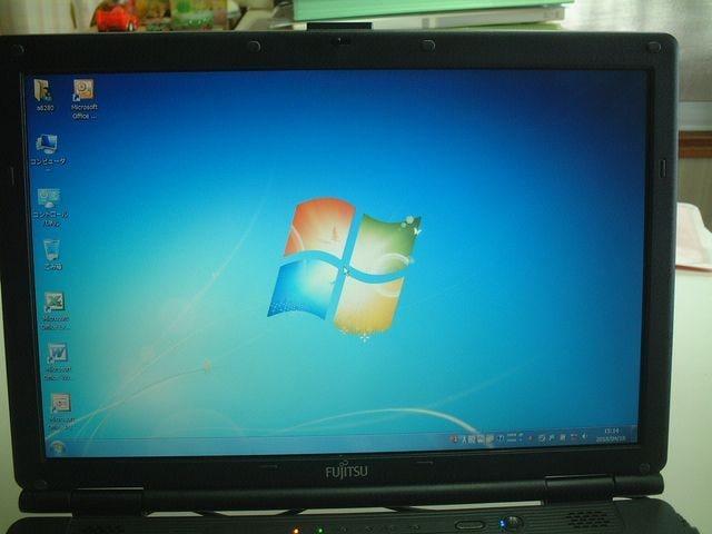 すぐ使える Windows7  DVD ワイド  FMV-A8280  2G/320G < PC本体/周辺機器の