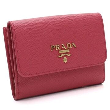 PRADA Wホック財布 1MH523 QWA F0505 PEONIA レディース