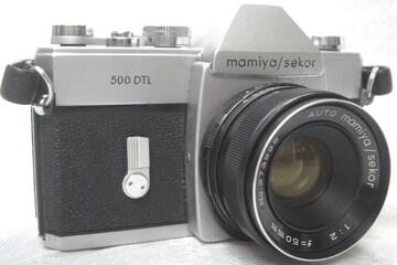 MAMIYA CAMERA/SEKOR 500DTLカメラ AUTO 50mm F2 レンズ