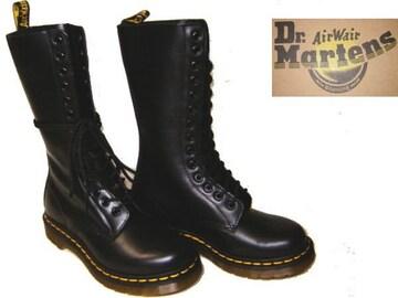 ドクターマーチンDrMartens14ホール ブーツ1914W ブラックuk6