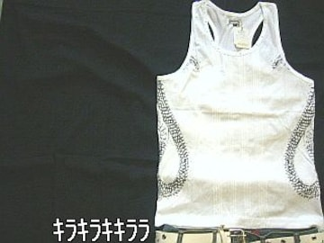 〓in the attic〓サイド昇り龍*タンクトップホワイトL