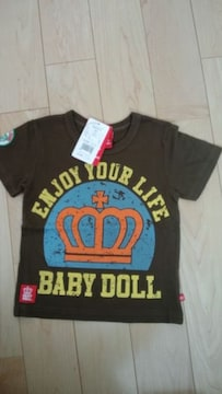 BABY DOLL ベビードール Tシャツ 新品 110 茶系
