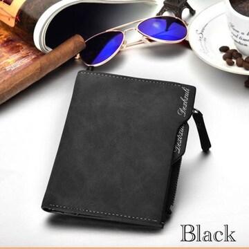 財布 二つ折り財布 ヴィンテージ レザー 札入れ ブラック